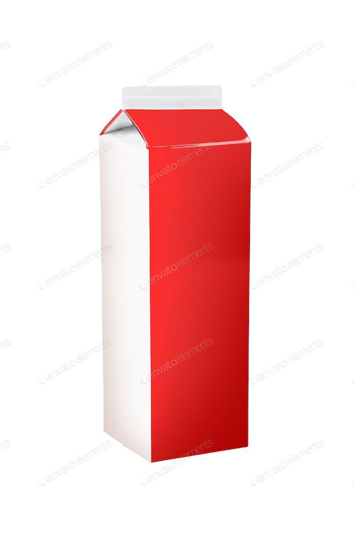milk box on white