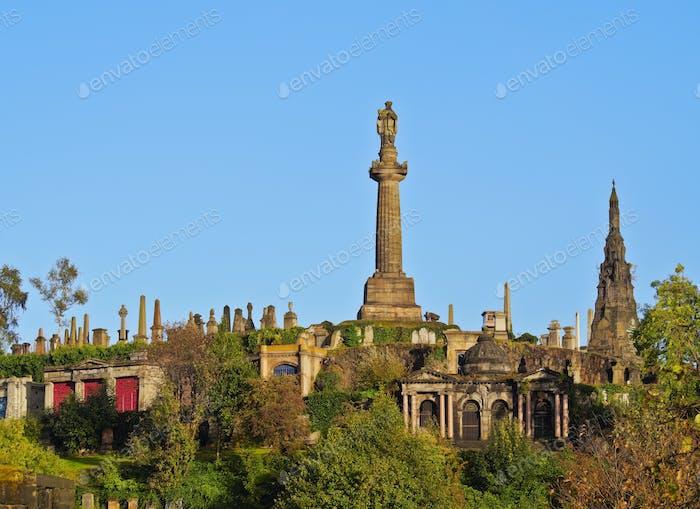 Necropolis in Glasgow, Scotland