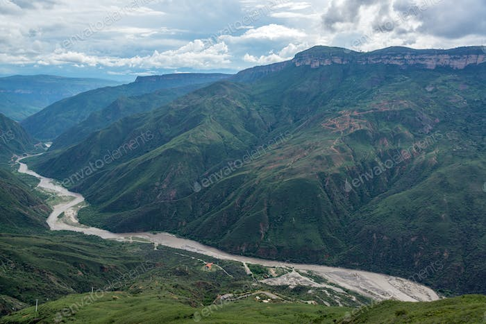 Dramatic View of Chicamocha Canyon