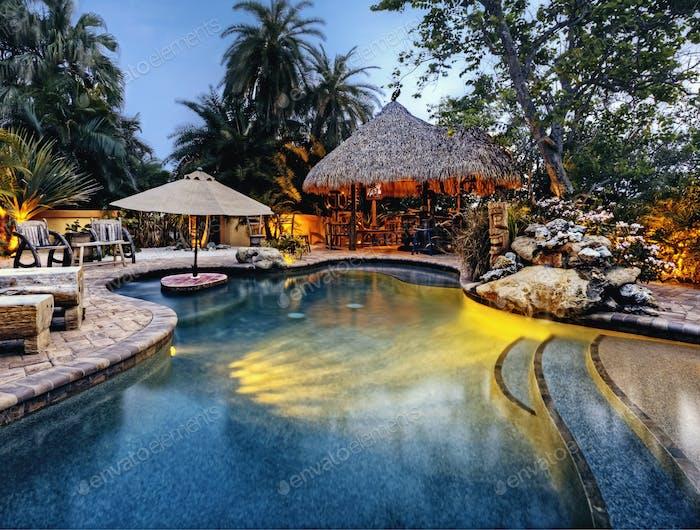 Pool at a Tropical Resort