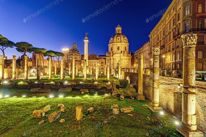 The ruins of the Trajan's Forum