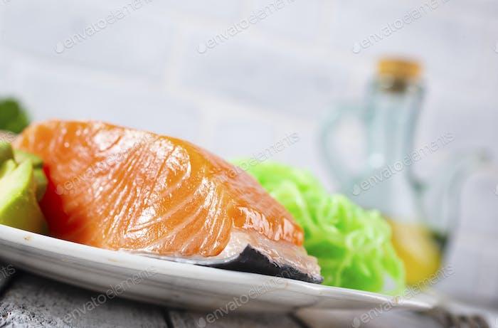 salmon with zucchini