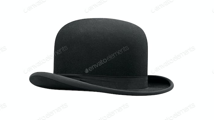 a bowler hat isolated on a white background