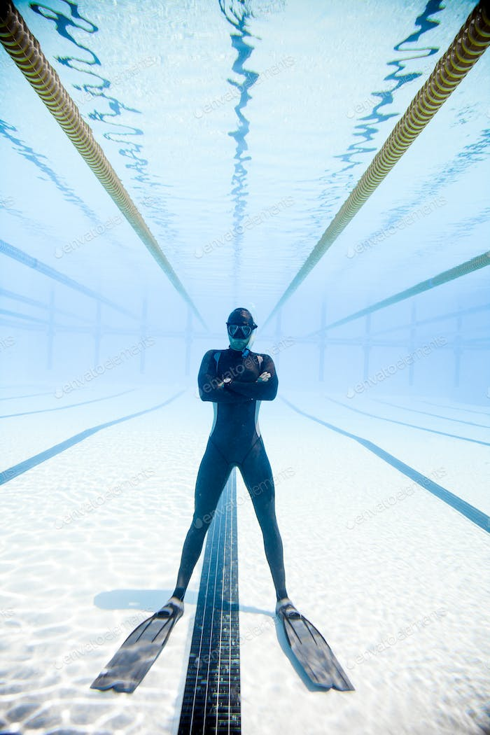 Freediving Competition Security in the middle of the Pool