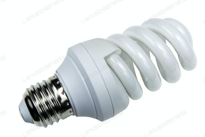 energieeffiziente Glühbirne isoliert