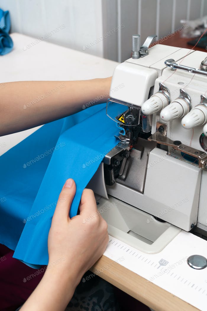 work at the sewing machine