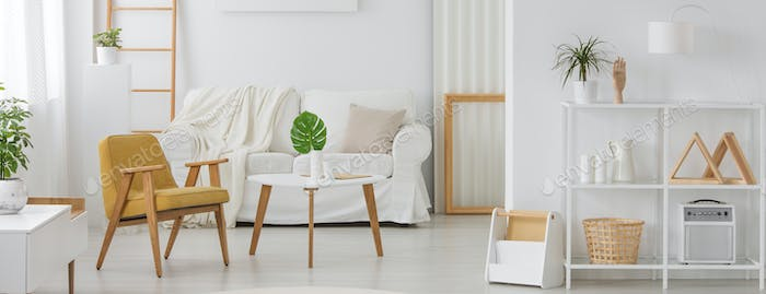 White furniture with wooden elements