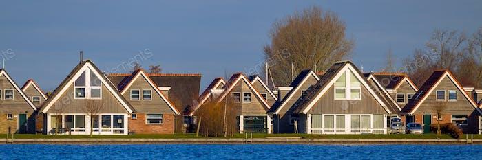 Panorama of Holiday resort houses Terherne