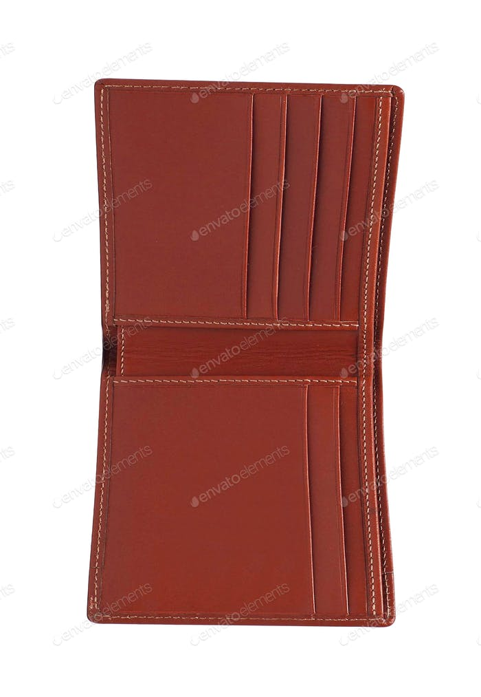 offene Brieftasche isoliert