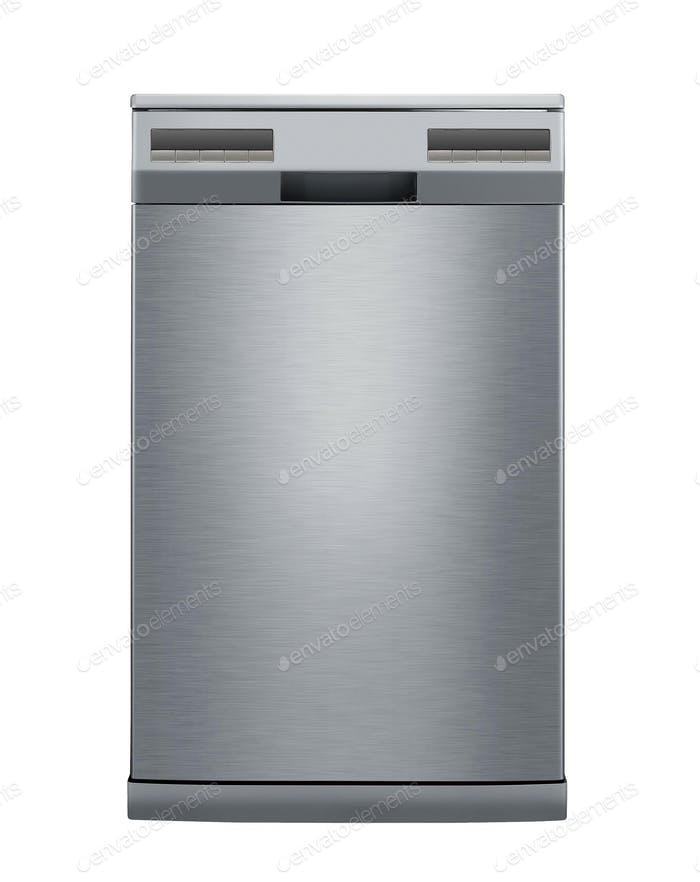 modern dishwasher isolated on white