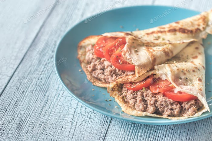 Crepes mit Thunfisch