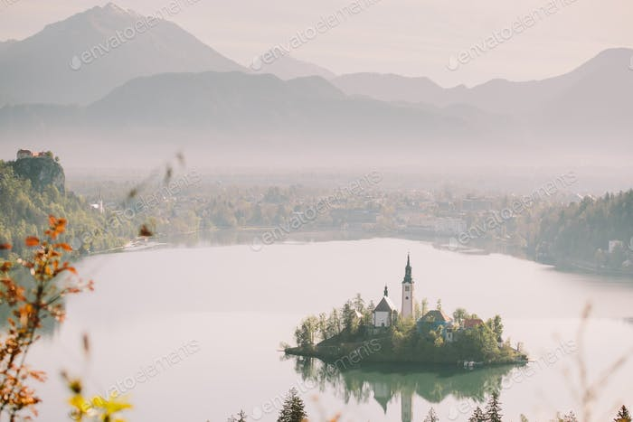 Lake Bled Slovenia island