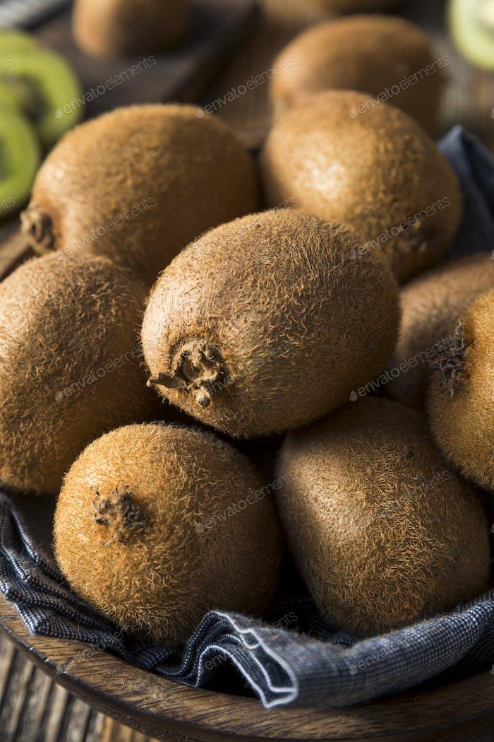 Raw Organic Brown and Green Kiwi