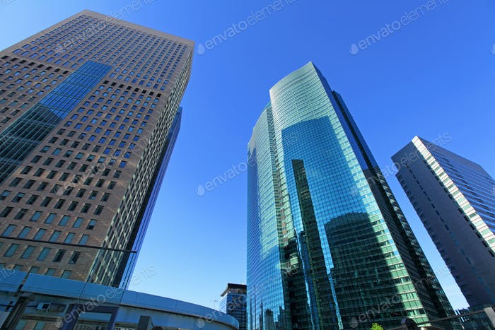 Downtown corporate business district