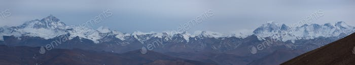 Panoramic view of the Himalayan chain
