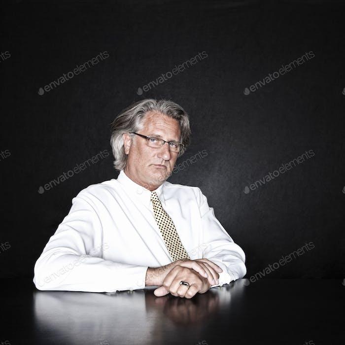 Studio portrait of caucasian man actor.
