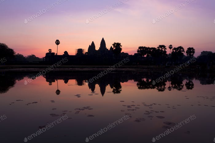 Sunrise in Angkor Wat, a UNESCO Heritage Site in Cambodia