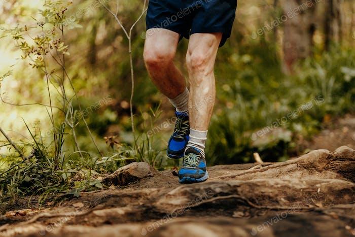 elderly man feet runner