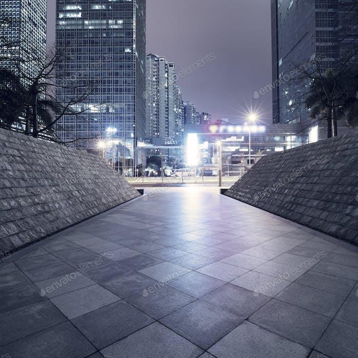 empty brick road