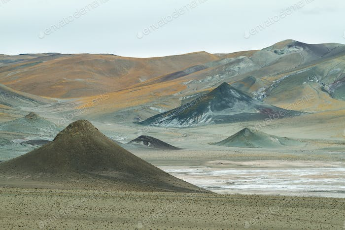 Curious pyramidal formations in Sico Pass