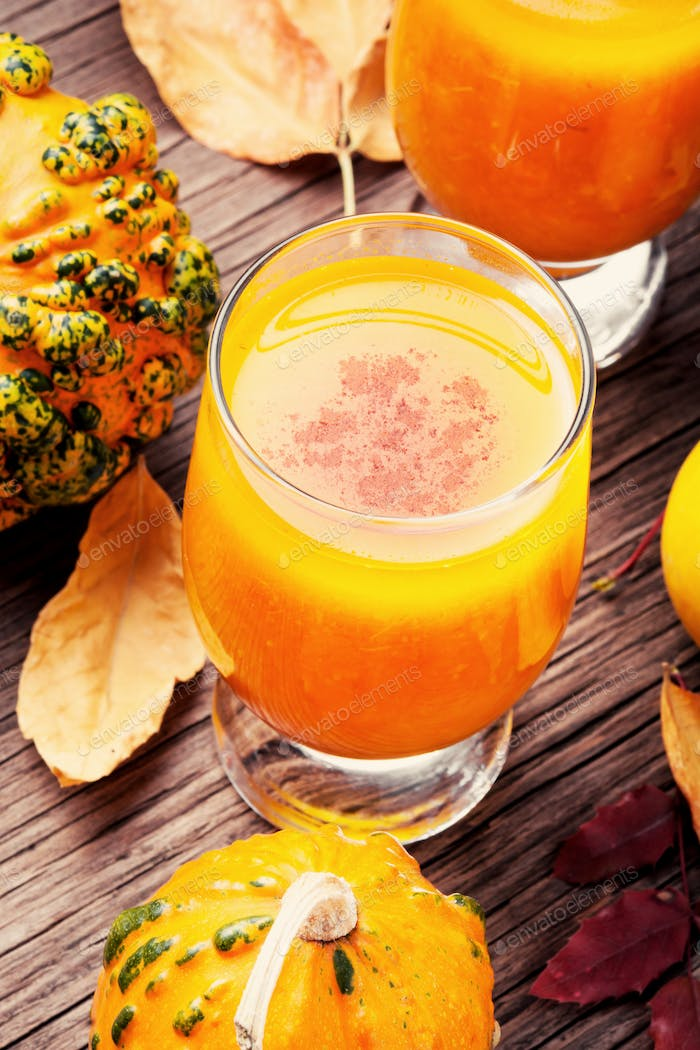 Healthy pumpkin smoothie