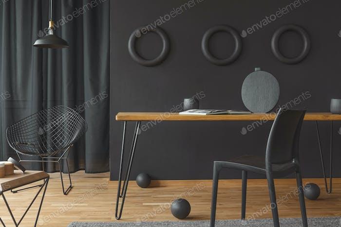 Circles on wall