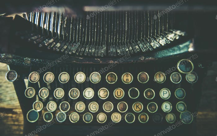 Dirty Aged Typewriter