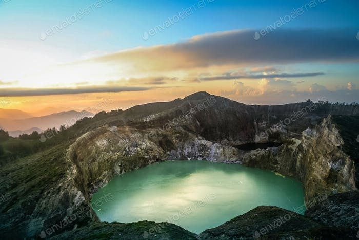 Kelimutu at sunrise