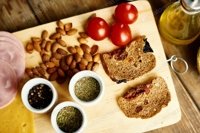 Ingredients for Healthy Sandwich
