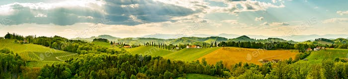 Panorama, Austria, Styria, wine producing country,old wine-growing country,Southern Styria