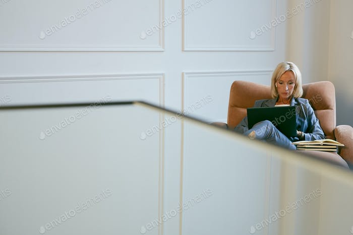 Successful Woman Working in Office