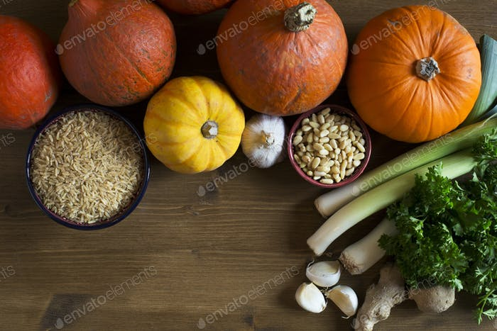Stuffed Squash ingredients