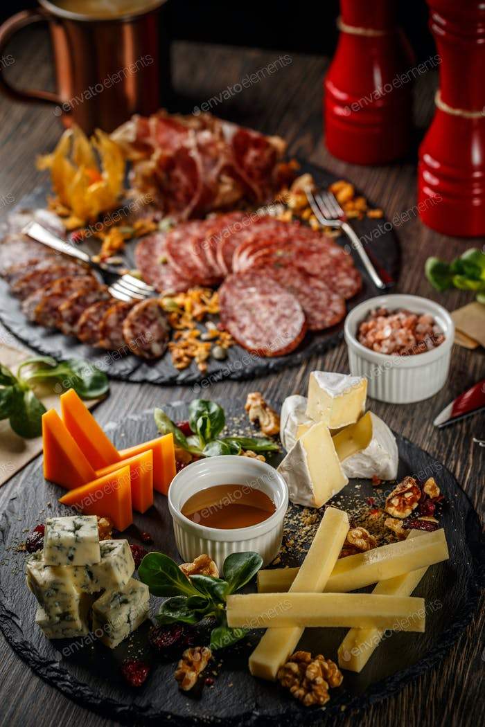 Cold cuts and cheese plate