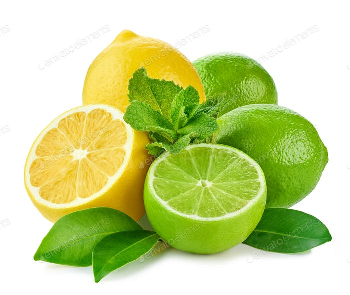 citrus fruits and mint