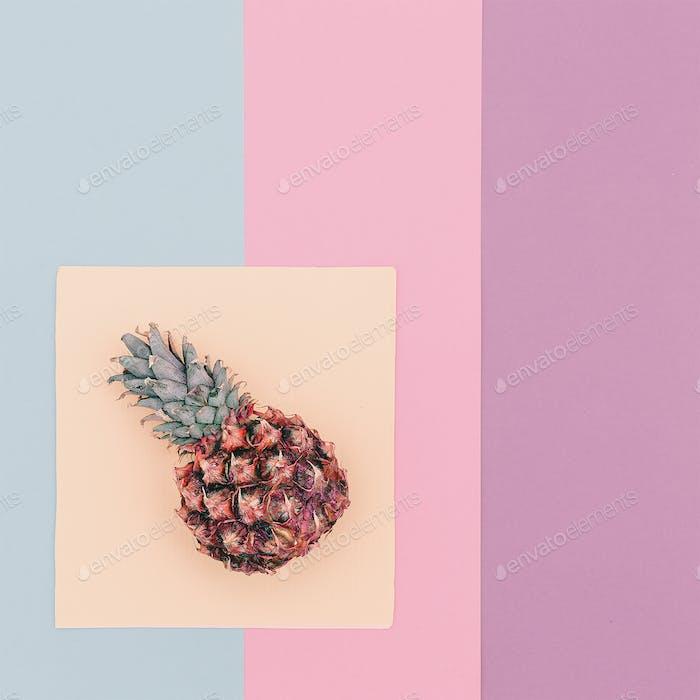 Pineapple minimal pastel trend