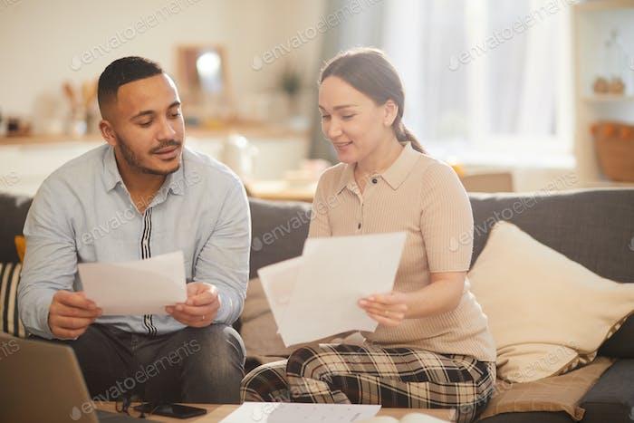 Modern Family Doing Taxes
