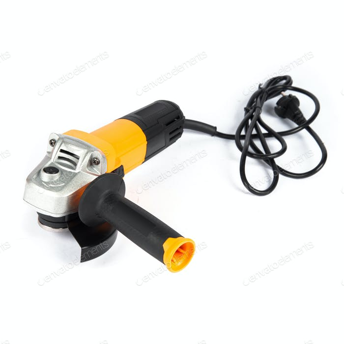 angle grinder isolated on white background