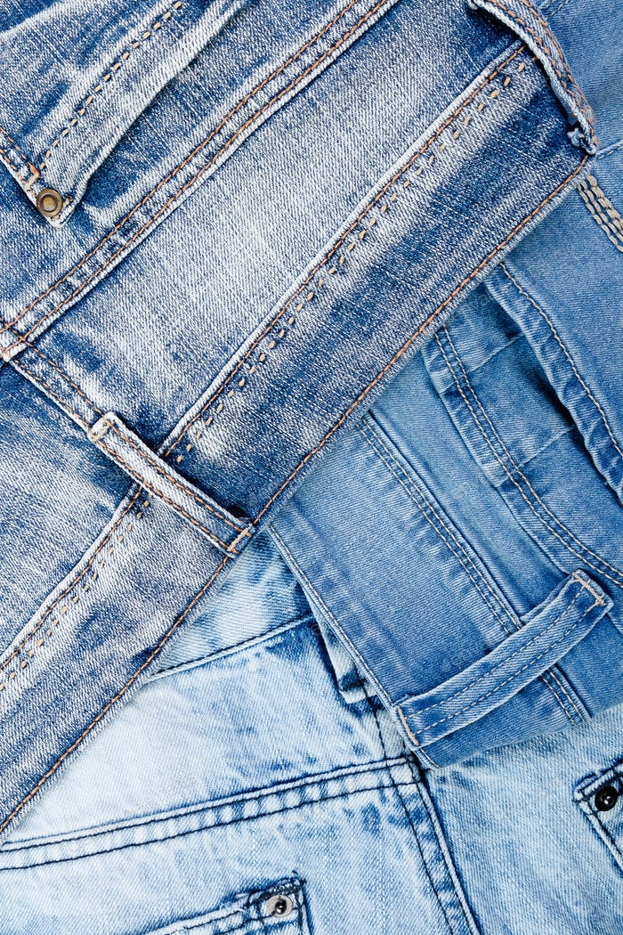 Jean background. Denim blue jean texture. Concept for fashion. Copy space. Frame .