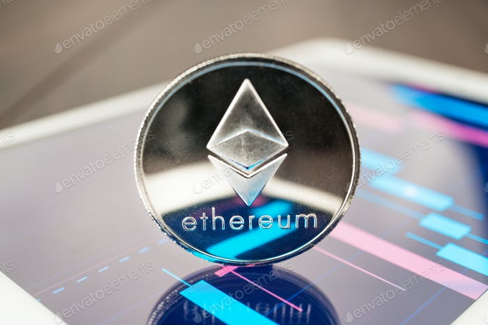 Ether Cryptocurrency On The Tablet