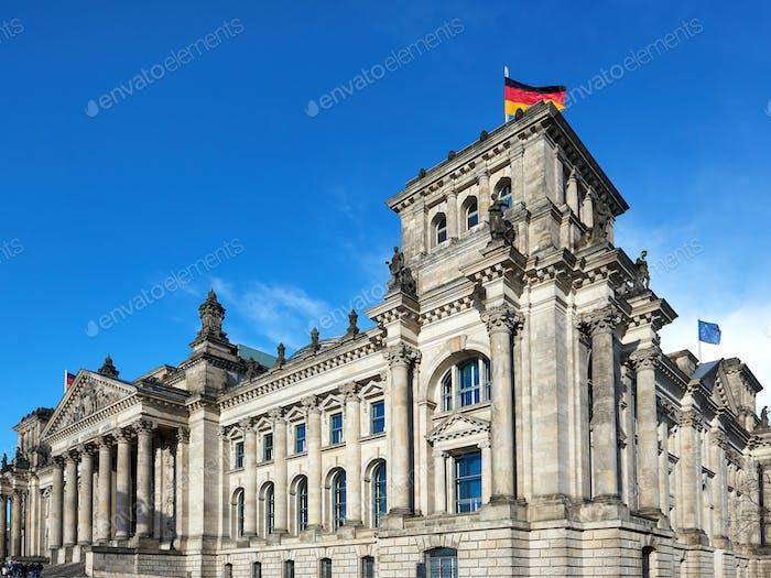 Das Reichstagsgebäude in Berlin, Deutschland
