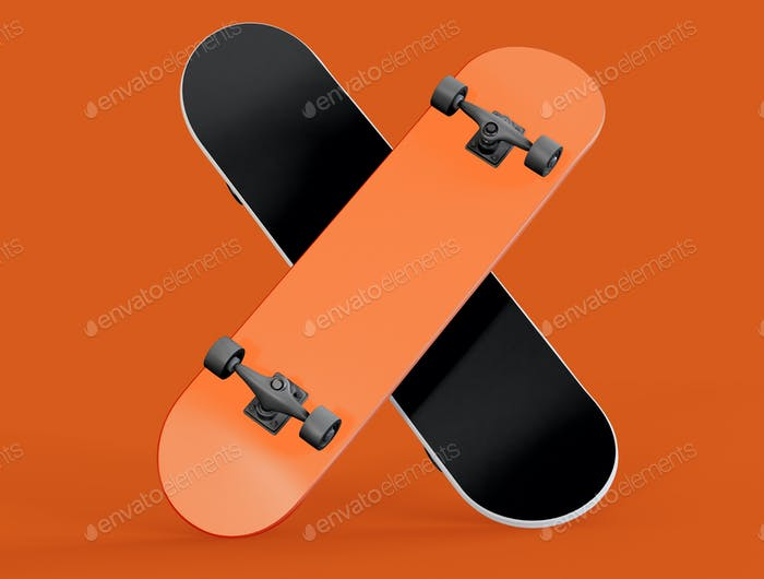 3D Illustration. Skateboard on isolated background.