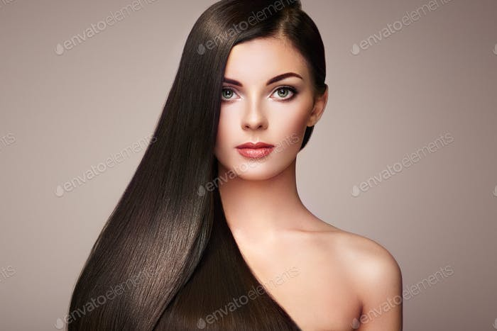 Thumbnail for Beautiful woman with long smooth hair