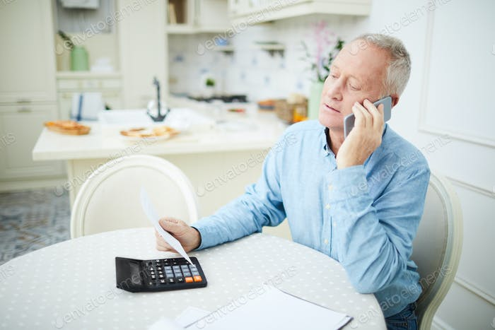 Pensioner calling