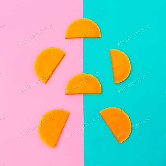 Pumpkin Pieces Raw Vegan Minimal art style