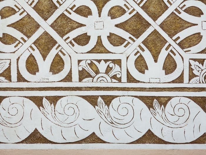 Sgraffito - Renaissance decoration of plaster facade by scraping