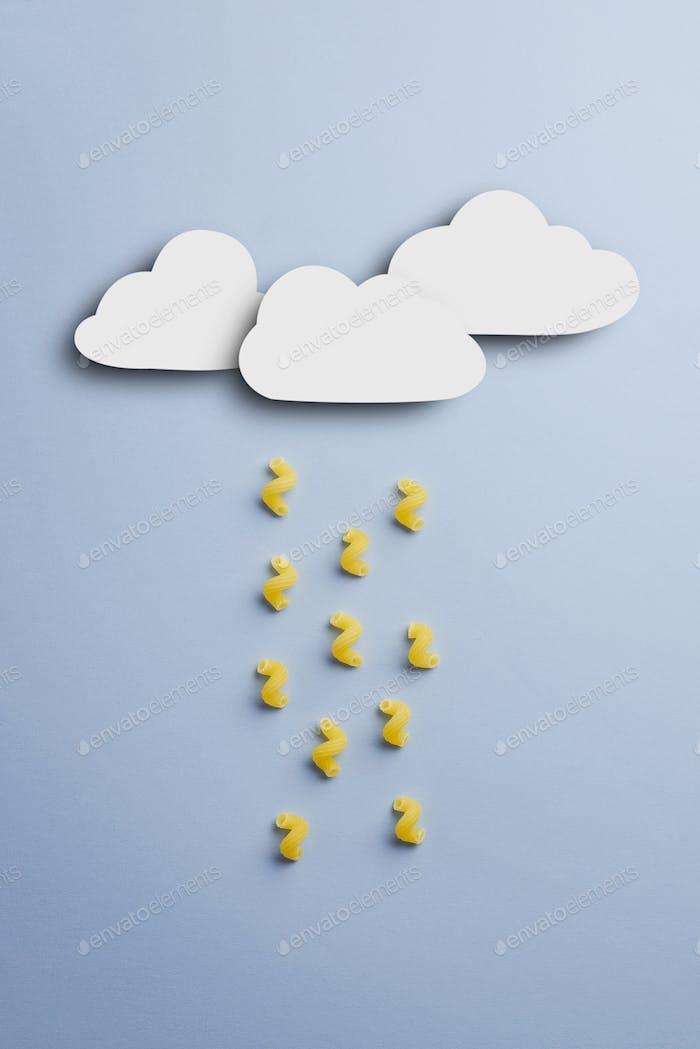 Raining with macaroni