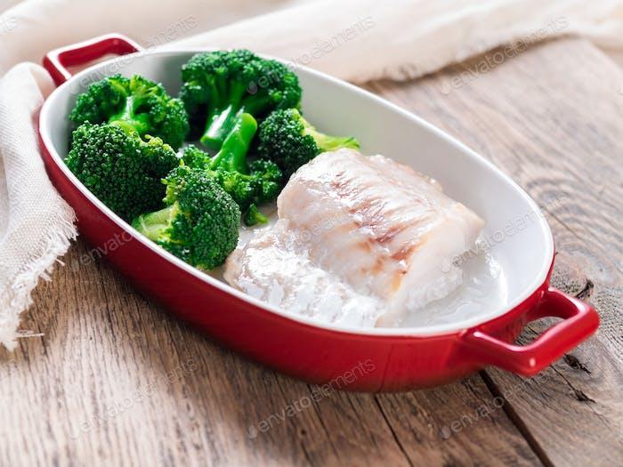 Fisch Kabeljau im Ofen gebacken