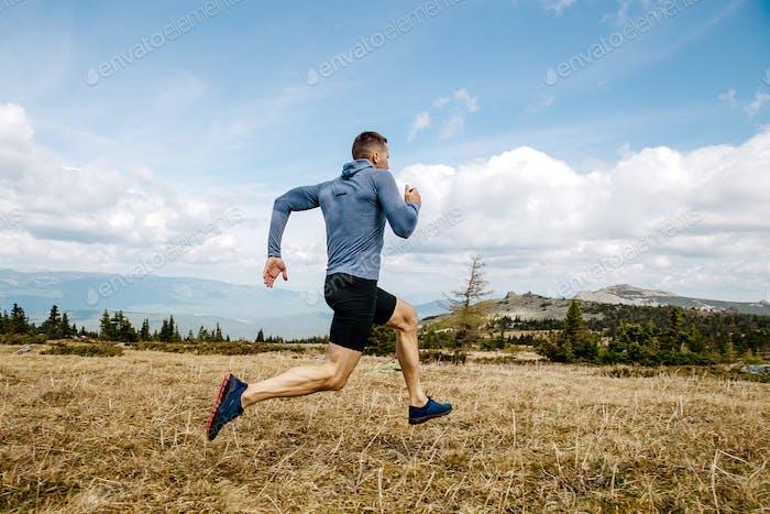 male runner cross country running