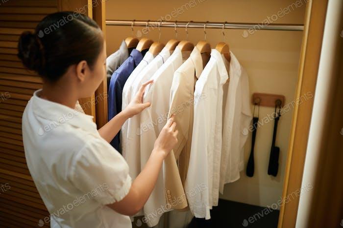 Checking clothes