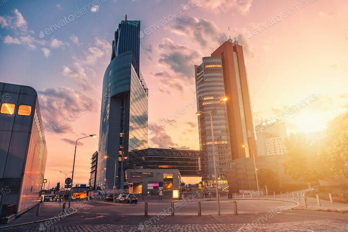 Skyscrapers and modern architecture in Vienna Austria